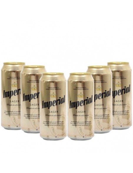 Imperial Lager Lata 473cc x6