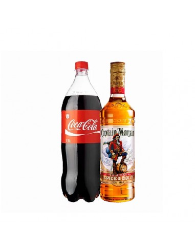 ron capitan morgan + 1 coca x 1.5